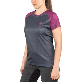 IXS Flow Maillot manches courtes Femme, graphite/aubergine